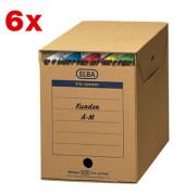"""Archivboxen tric system für Hängeregistraturen """"Maxi"""" 6 Stück braun"""