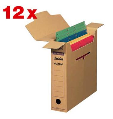 "Archivbox tric system ""Schmal"" 12 Stück braun 8,1 l"