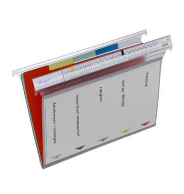 Personalmappe Typ 2 A4 grau 5-teilig mit Klarsichttasche