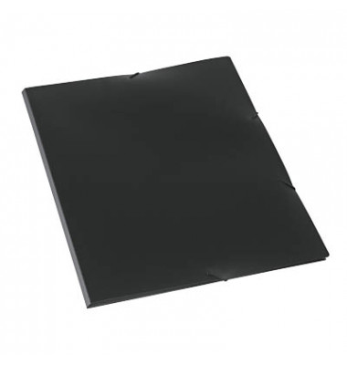 Eckspannmappe A3 PP schwarz 5 Stück