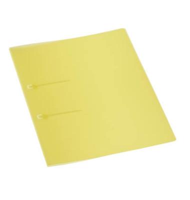 Schnellhefter 9038 A4 gelb PP Kunststoff Schlaufenheftung bis 50 Blatt 10 Stück