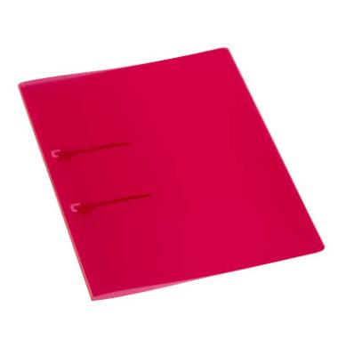 Schnellhefter 9038 A4 rot PP Kunststoff Schlaufenheftung bis 50 Blatt 10 Stück