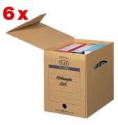 Archivboxen tric 83527 A4 maxi braun 31,5x24x34,1cm 6 Stück