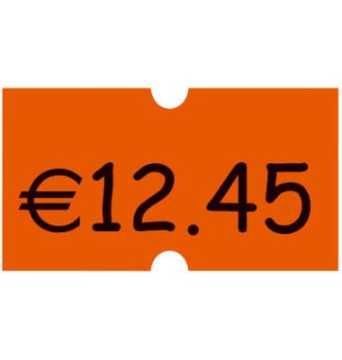 Preisauszeichnungsetikett leuchtorange, permanent Minipack