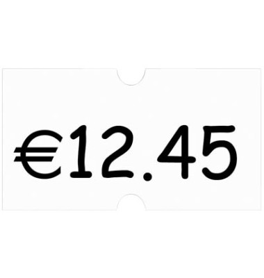 Preisauszeichnungsetikett weiß, ablösbar Maxipack