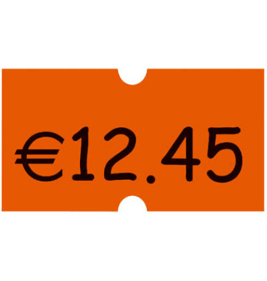 Preisauszeichnungsetikett leuchtorange, permanent Maxipack
