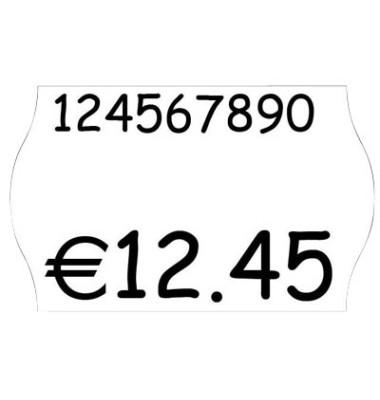 Preisauszeichnungs-Etiketten weiß permanent Minipack