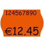 Preisetiketten 9421942, 26x16mm, leuchtorange permanent, 43.200 Etiketten