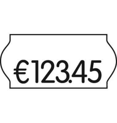 Preisetiketten, 26x12mm, weiß wiederablösbar, 27.000 Etiketten