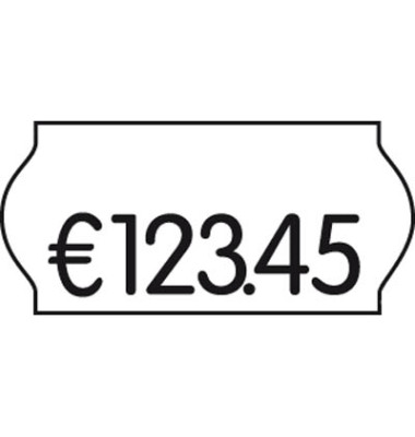 Preisetiketten 9420546, 26x12mm, weiß permanent, 54.000 Etiketten