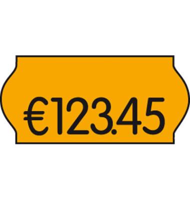 Preisetiketten 9420548, 26x12mm, leuchtorange permanent, 54.000 Etiketten