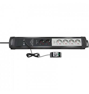 Steckdosenleiste Premium-Line Comfort Switch Plus, 2 permanente und 4 zweipolig abschaltbare Steckdosen