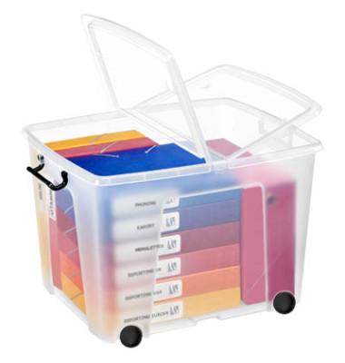 Kunststoffboxen mit Rollen 75,0 l, 60,0 x 48,5 x 41,5 cm (BxTxH)