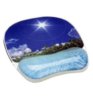 Mousepad mit Handgelenkauflage Foto Gel tropischer Strand