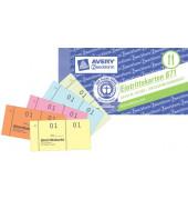 Eintrittskarten/871 105x53 mm sortiert 01-500 Inh.5x 100 Blatt