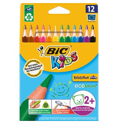 Buntstifte Kids ECOlutions Evolution Triangle 12-farbig sortiert 10 x 160mm