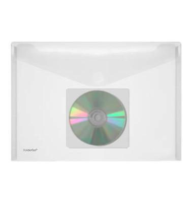 Dokumententasche 40131 A4 farblos/transparent bis 100 Blatt 10 Stück