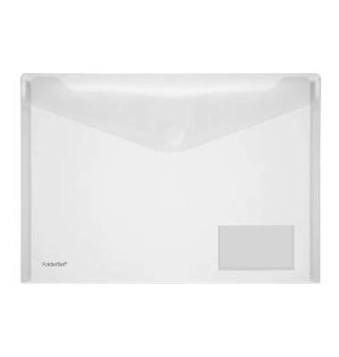 Dokumententasche 40132 A4 farblos/transparent bis 100 Blatt 10 Stück