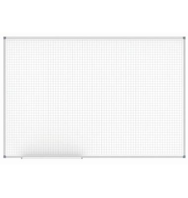 Raster-Whiteboard MAULoffice 150 x 100cm kunststoffbeschichtet Aluminiumrahmen Raster 20x20mm
