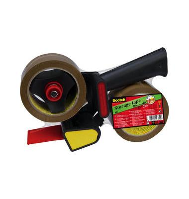 Packband 309 Promotionpack 2 Rollen (50mm x 66m braun BOPP) & 1 Abroller