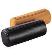 Federmappe JumboRolle XXL schwarz 22x9cm Leder