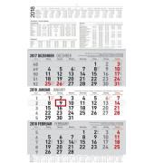 Dreimonatskalender 3Monate/1Seite 30x48,7cm 2019