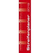 Streifenplaner 113 x 495 mm gr/rot