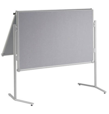 Moderationswand professionell, klappbar Glasfaser grau + Gratis Moderations-Set