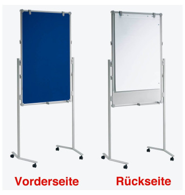 Moderationswand professionell 75,0 x 120,0 cm + Gratis Moderations-Set