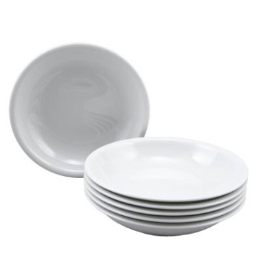 Suppenteller Compact Ø 22cm weiß Porzellan stapelbar 6 Stück