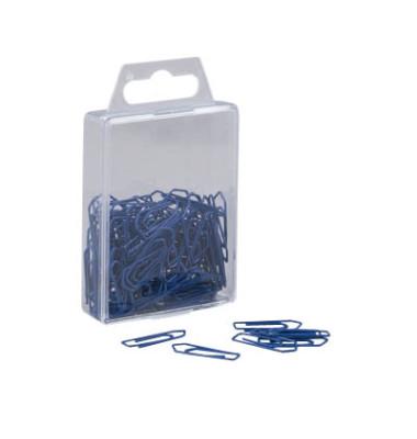 Büroklammern 0.9397, 26mm, Metall lackiert blau, 100 Stück