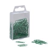 Büroklammern 0.9398, 26mm, Metall lackiert grün, 100 Stück