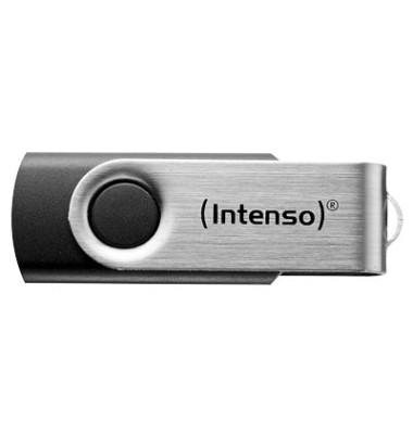 USB-Stick Basic Line USB 2.0 schwarz/silber 8 GB