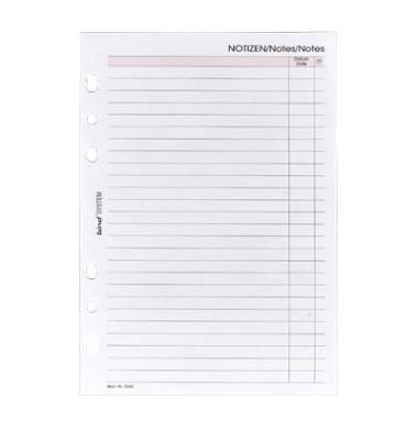 Ersatzeinlage für Planer Notizen A5 50 Blatt