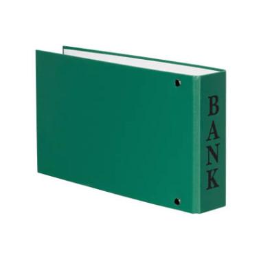 Bankordner VELOCOLOR A6 grün 30mm-2-Ring-Mechanik mit Aufschrift Bank