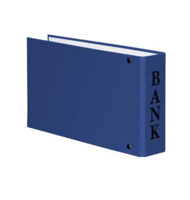 Bankordner VELOCOLOR A6 blau 30mm-2-Ring-Mechanik mit Aufschrift Bank