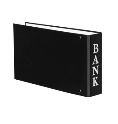 Bankordner VELOCOLOR A6 schwarz 30mm-2-Ring-Mechanik mit Aufschrift Bank