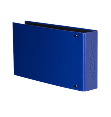 Bankordner VELOCOLOR Classic A6 blau 30mm-2-Ring-Mechanik mit Aufschrift Bank