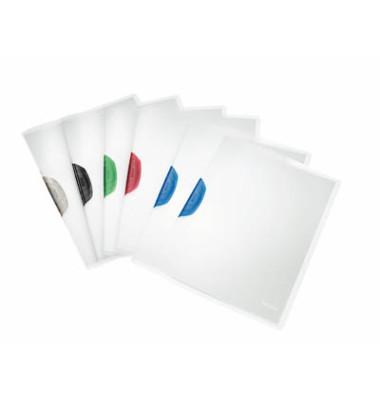 Klemmhefter ColorClip A4 transparent farbig sortierte Klemme  für 30 Blatt 6 Stück