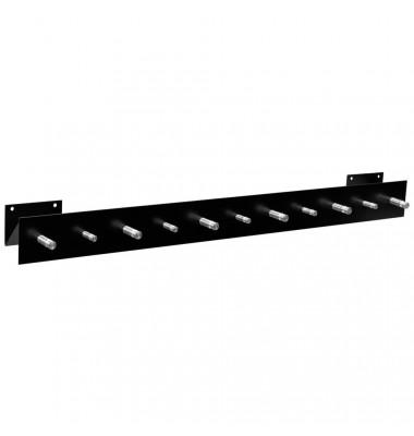 Wandgarderobe 50125, Metall, mit 11 Haken, schwarz, 1 Stück