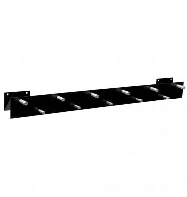 Wandgarderobe 50135, Metall, mit 11 Haken, schwarz, 1 Stück