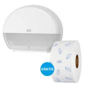 Starterpack 955000 Toilettenpapierspender Mini-Jumbo weiß + Mini-Jumbo Rolle