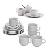 Seltmann Weiden Kaffee Geschirr Set Compact 20 Teilig Weiß Porzellan