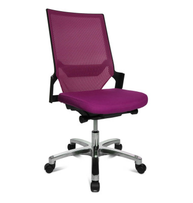 Bürodrehstuhl Autosyncron-1-Alu ohne Armlehnen violett/schwarz