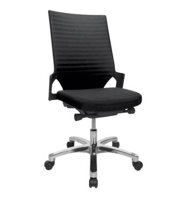 Bürodrehstuhl Autosyncron-2-Alu ohne Armlehnen schwarz