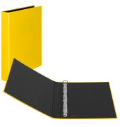 Ringbuch Basic A4 gelb 4-Ring Ø 25mm