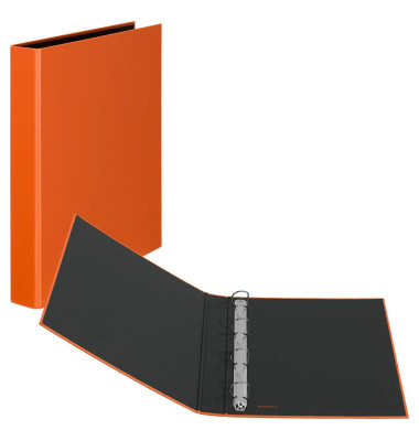 Ringbuch Basic A4 orange 4-Ring Ø 25mm