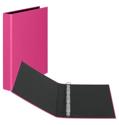 Ringbuch Basic A4 pink 4-Ring Ø 25mm