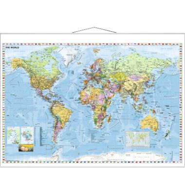 Landkarte Welt 1:33000000 137x97cm