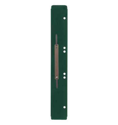 Heftstreifen lang 3011000100, 45x310mm, extra lang, Kunststoff mit Metalldeckleiste, grün, 100 Stück